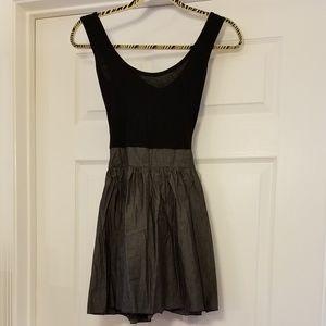 Black and Grey Color Block Dress